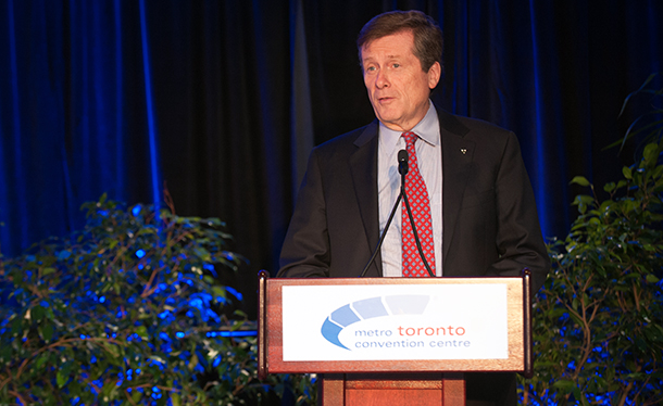Mayor John Tory at the Leaders Circle event