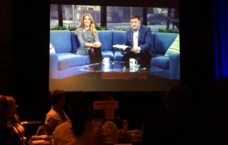 Breakfast Television's Kevin Frankish and Dina Pugliese officially open the MTCC's Long Service Awards, Thursday, Feb. 4, 2016.