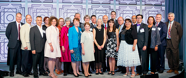 Ambassadors stand for group photo at Leaders Circle Recognition Gala