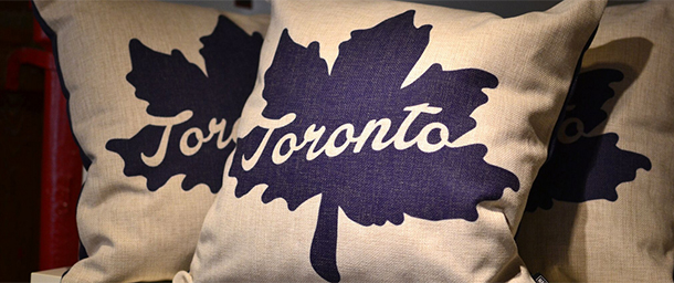 Toronto leaf pillow from Spacing Store